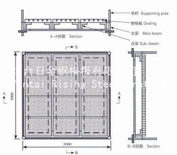 吊顶单元结构图